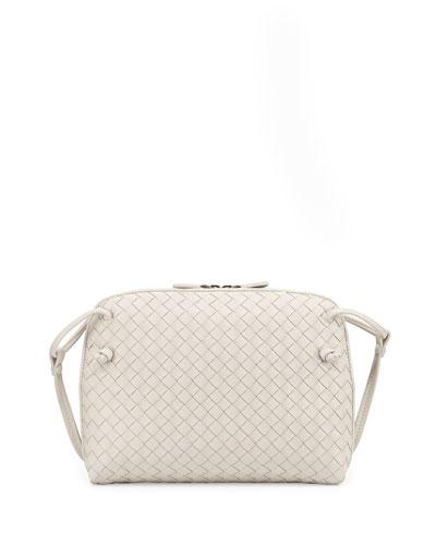 Intrecciato Small Crossbody Bag, White