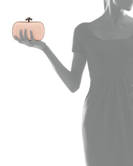 Bottega Veneta Small Knot Satin Clutch