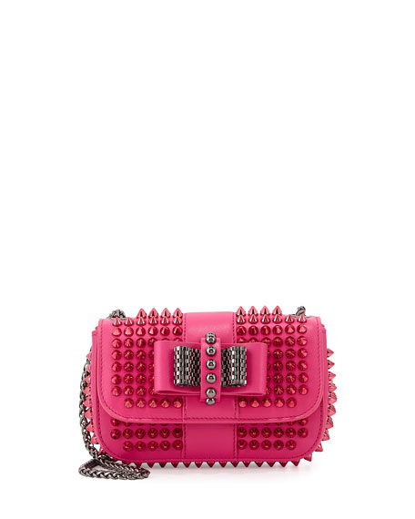 Sweet Charity Small Spiked Crossbody Bag, Pink
