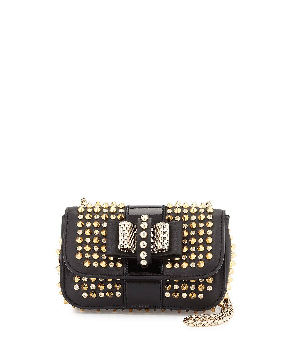 c45c331f74 Christian Louboutin Sweet Charity Spiked Crossbody Bag