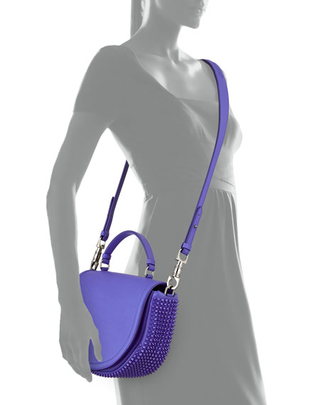 Panettone Spiked Messenger Bag, Periwinkle Blue