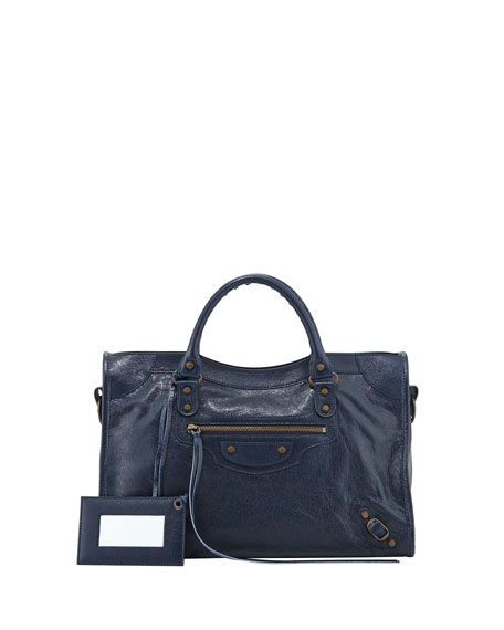 Balenciaga Classic City Bag, Dark Blue