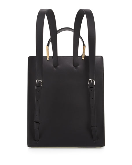 Le Dix Leather Backpack, Black