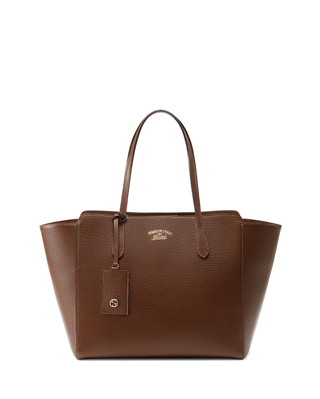 b1caffa0ce2128 Gucci Swing Medium Tote Bag, Brown | Neiman Marcus