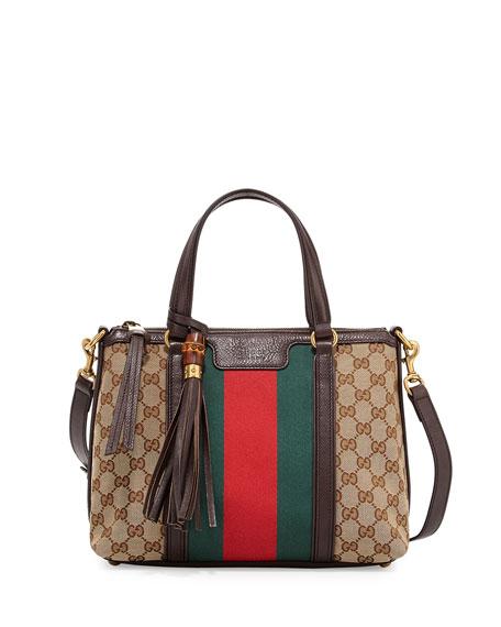Rania Original GG Canvas Top Handle Bag, Brown