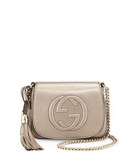 6b5308e9dd66 Gucci Soho Metallic Leather Mini Shoulder Bag, Gold on PopScreen