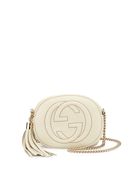 cc662253b23 Gucci Soho Calf Leather Cross Body Bag In Natural Lyst