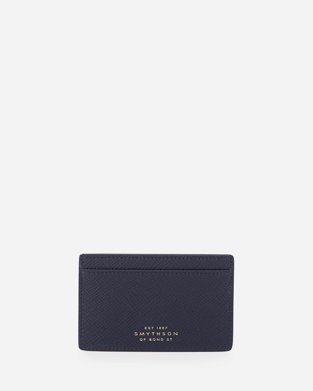 Smythson Panama 771 Card Case, Navy | Neiman Marcus