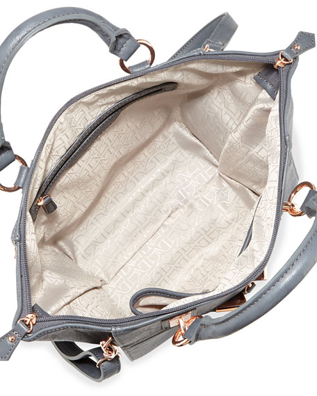 Danielle Nicole Alexa Faux-Leather Crossbody Bag, Gray