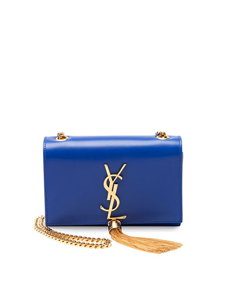 Monogram Small Crossbody Bag, Cobalt Blue
