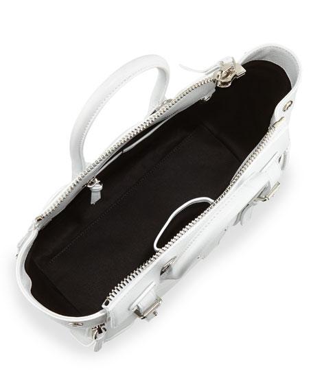 Ralph Lauren Ricky 27 Soft Satchel Bag, White