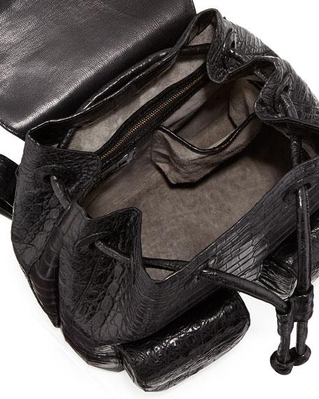 Small Crocodile Backpack, Black