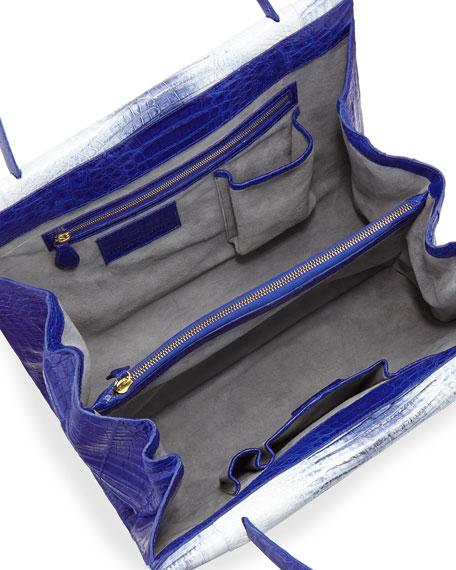 Wallis Tie-Dye Crocodile Tote Bag, Blue Multi