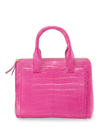 Nancy Gonzalez Medium Crocodile Tote Bag, Pink Matte