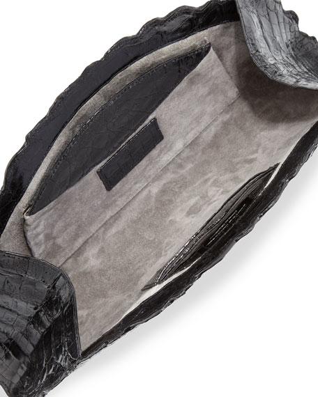 Crocodile Fan Clutch Bag
