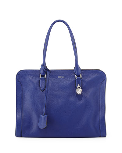 Padlock Medium Zip-Around Satchel Bag, Blue