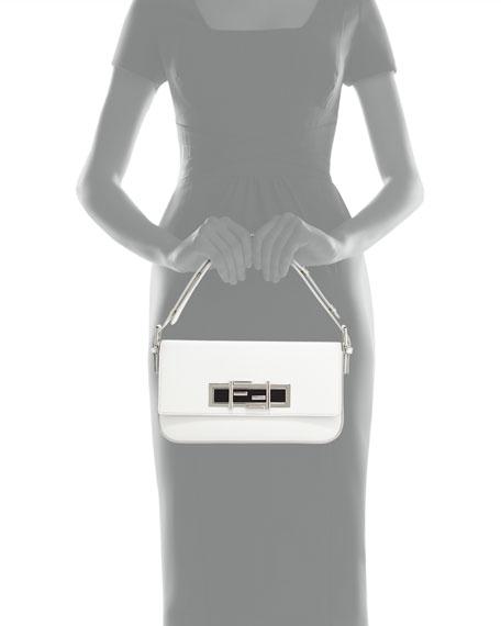 Fendi New Baguette Shoulder Bag, White/Black