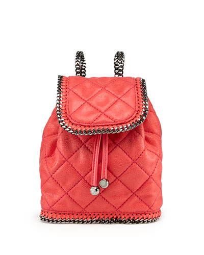 Falabella Quilted Mini Backpack, Pink