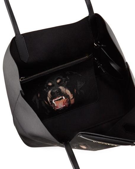Givenchy Antigona Rottweiler Small Coated Canvas Shopping Tote Bag