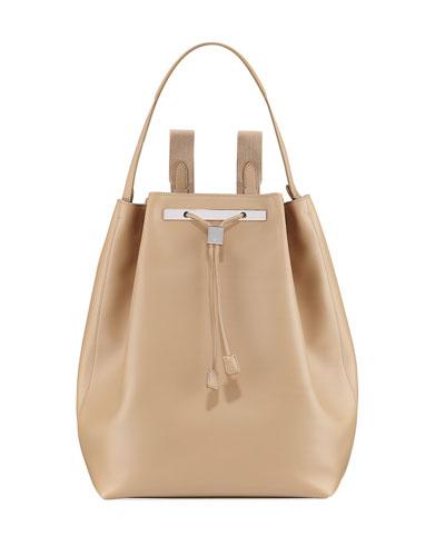 Backpack 11 Leather Hobo Bag, Black