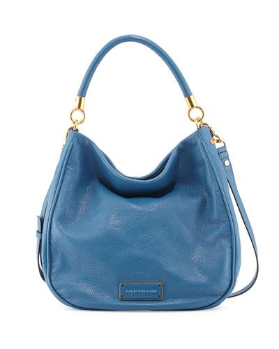 Too Hot to Handle Hobo Bag, Bluestone
