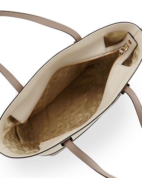kate spade new york cedar street mini-harmony tote bag, pebble/warm putty