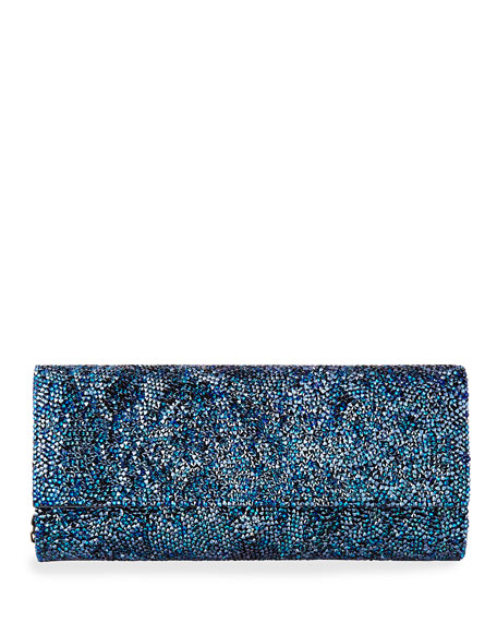 Ritz Fizz Crystal Clutch Bag, Denim Blue