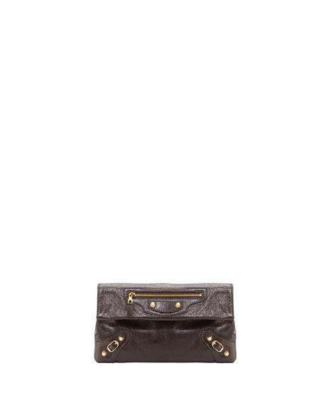Balenciaga Giant 12 Golden Envelope Clutch Bag, Charbon