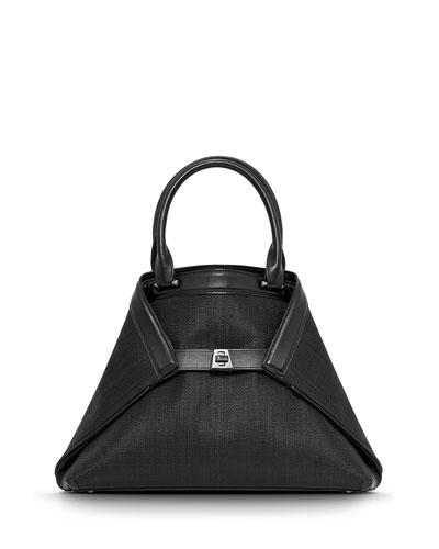 Ai Small Horsehair Tote Bag, Black