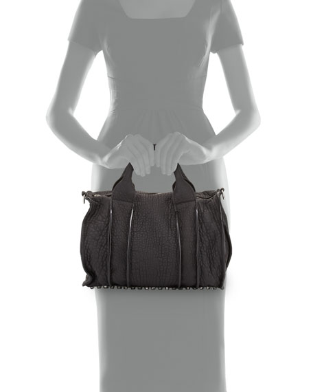 Rocco Inside-Out Satchel Bag, Black