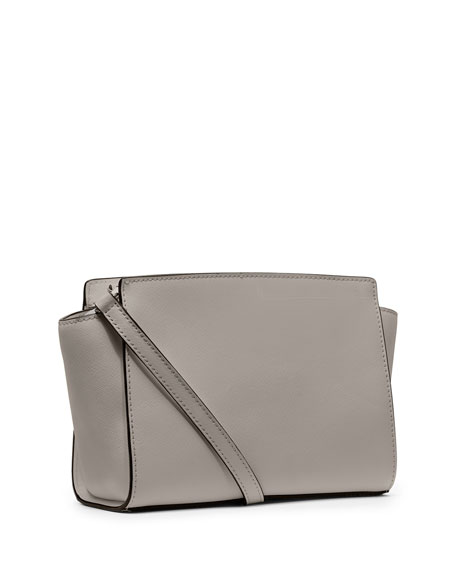 Selma Medium Messenger Bag, Pearl Gray