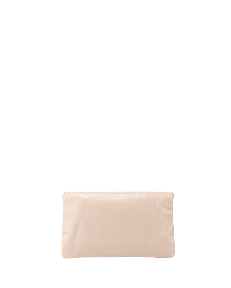 Giant 12 Golden Envelope Clutch Bag, Rose Azalee