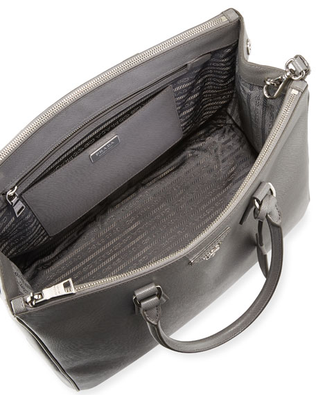 Saffiano Medium Executive Tote Bag, Black (Nero)