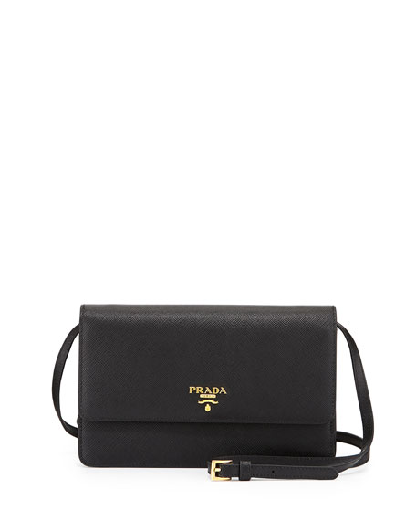 chanel chain bag replica - Prada Saffiano Mini Crossbody Bag, Black (Nero)