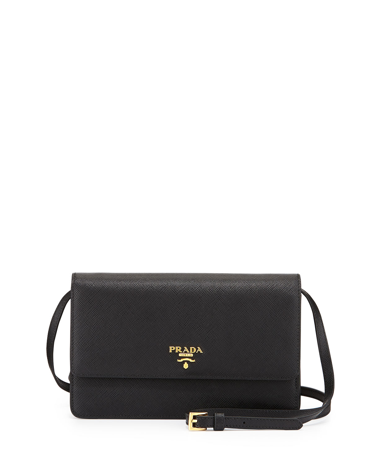 a365a7858d61 Prada Saffiano Mini Crossbody Bag, Black (Nero) | Neiman Marcus