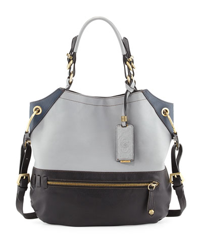 Sydney Shoulder Bag,Light Gray/Multi