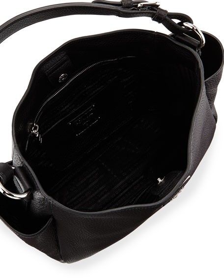 fake prada sunglasses for sale - Prada Vitello Daino Single Strap Tote Bag, Black (Nero)