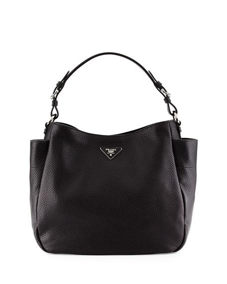 Prada Vitello Daino Single Strap Tote Bag, Black (Nero)