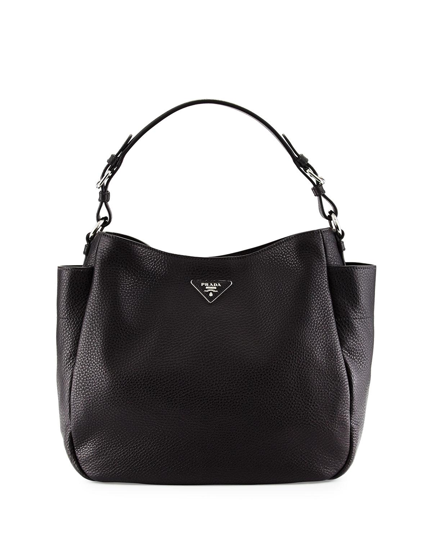 2768f2ee80e421 Prada Vitello Daino Single Strap Tote Bag, Black (Nero) | Neiman Marcus