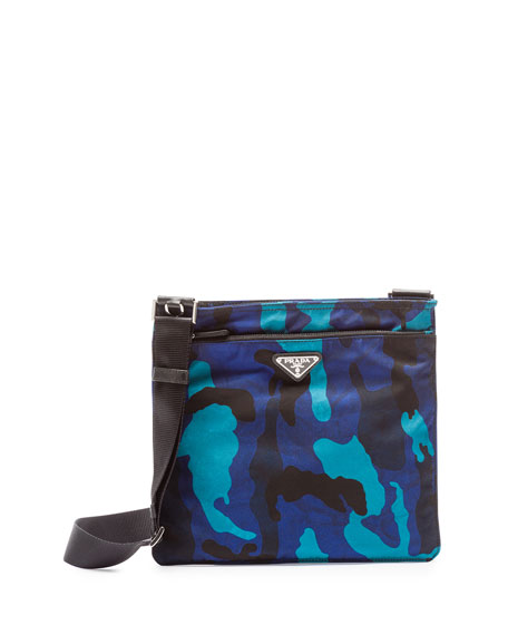 copy prada bags - Prada Tessuto Camo-Print Crossbody Bag, Royal Blue (Royal)
