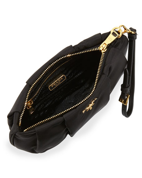 prada handbags price - Prada Tessuto Wristlet Bag, Black (Nero)