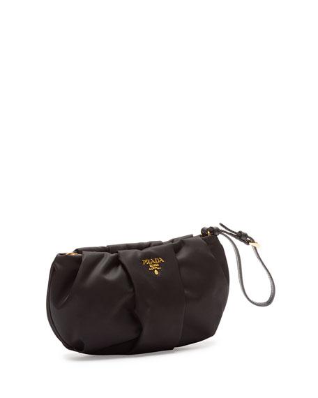 Tessuto Wristlet Bag, Black (Nero)