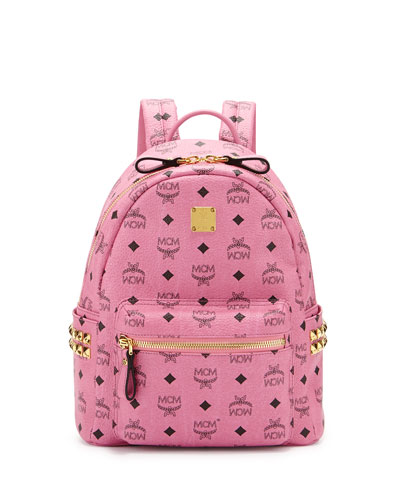 Stark Small Canvas Backpack, Pink