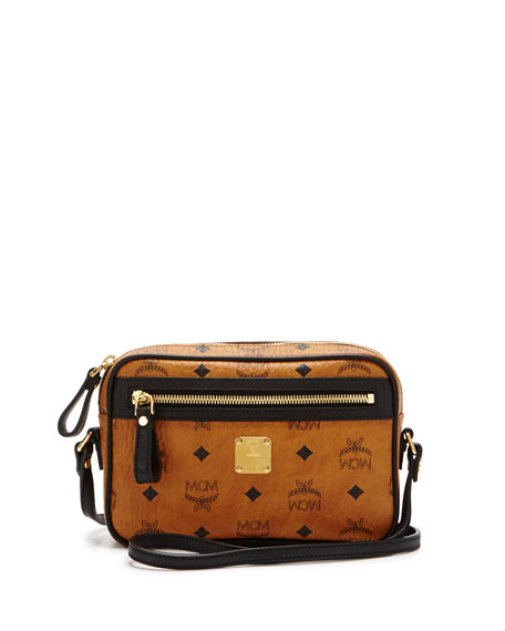 Color Visetos Small Crossbody, Cognac