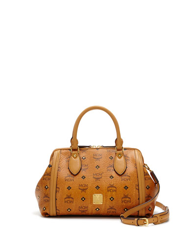 Gold Visetos Small Doctor Bag, Cognac