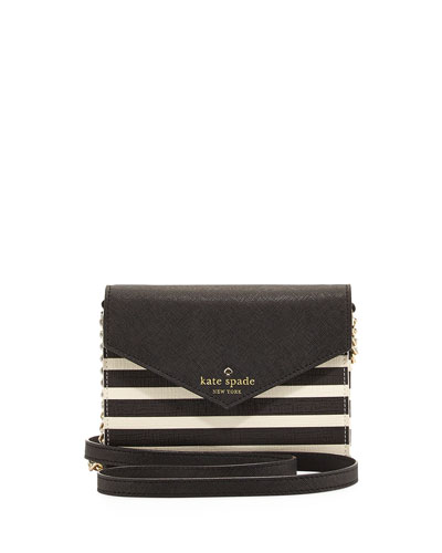 fairmount square monday crossbody bag, black/white