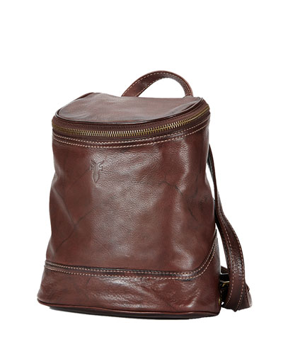 Campus Small Leather Backpack, Walnut