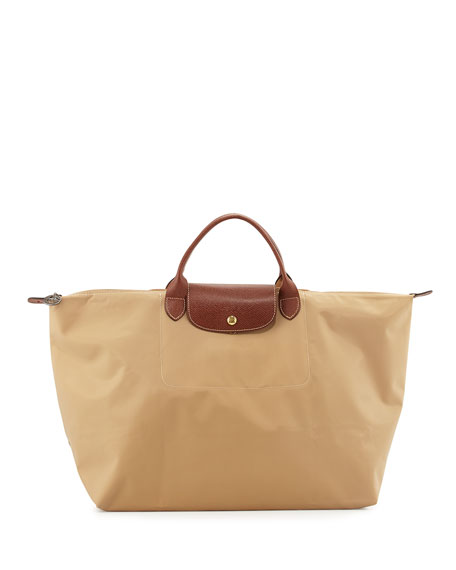 Longchamp Le Pliage Large Travel Bag, Beige