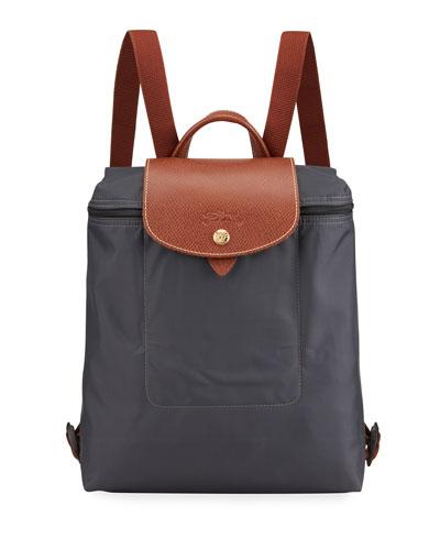 Le Pliage Nylon Backpack, Gunmetal