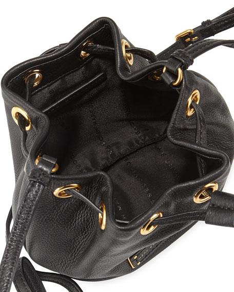 Too Hot to Handle Mini Drawstring Crossbody Bag, Black